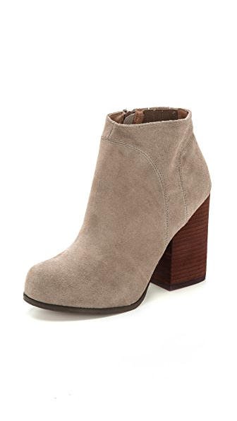 Jeffrey Campbell Hanger Suede Booties - Taupe