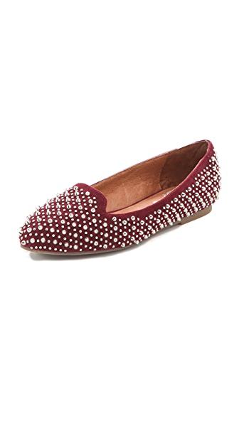 Jeffrey Campbell Martini Suede Studded Loafers