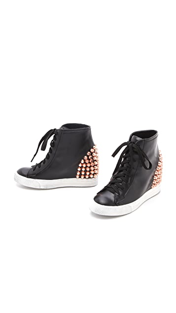 Jeffrey Campbell Edea Stud Wedge Sneakers