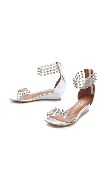 Jeffrey Campbell Javasu Studded Clear Sandals