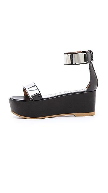 Jeffrey Campbell Lars Metallic Platform Sandals