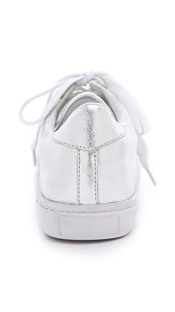 Jeffrey Campbell Meyers Clear & Silver Sneakers