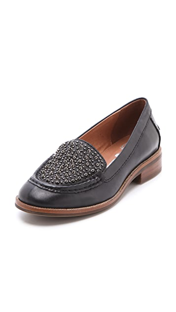 Jeffrey Campbell Pupil Mix Stud Loafers