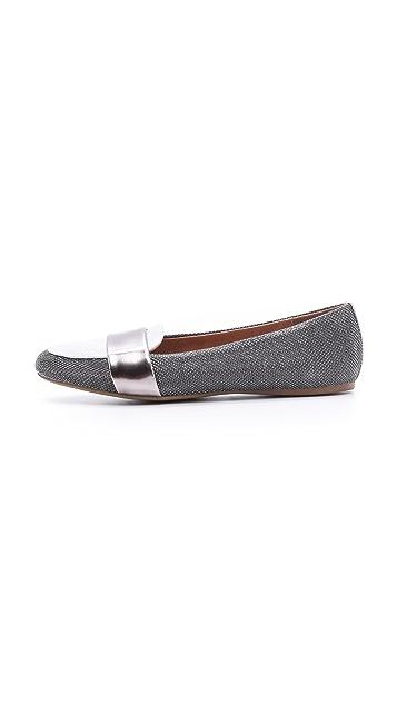 Jeffrey Campbell Lynda Metallic Loafers