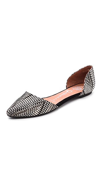 Jeffrey Campbell In Love Printed d'Orsay Flats