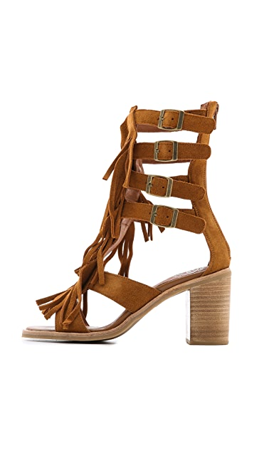 Jeffrey Campbell Omaha Fringe Sandals