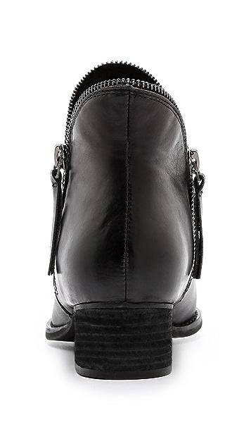 Jeffrey Campbell Crockett Zipper Trim Booties