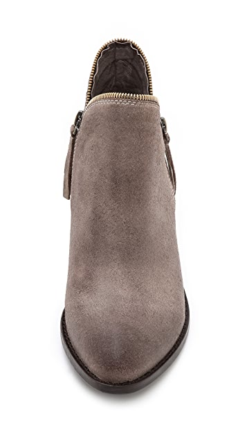 Jeffrey Campbell Crockett Zipper Trim Booties