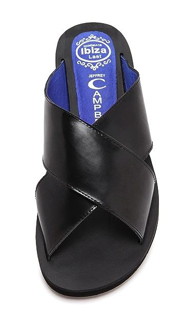Jeffrey Campbell Caprese Crisscross Slide Sandals