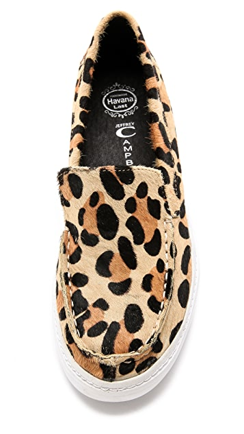 Jeffrey Campbell Skip Fur Slip On Sneakers