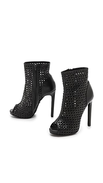 Jeffrey Campbell Scandal Woven Open Toe Booties
