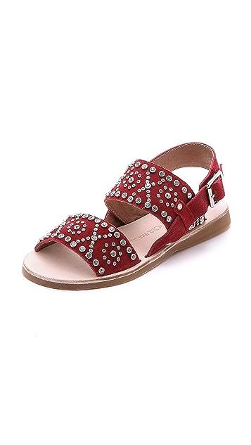 Jeffrey Campbell Patras Suede Embellished Sandals