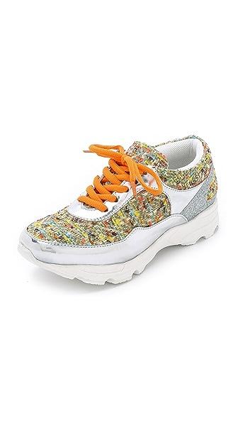 Kupi Jeffrey Campbell online i prodaja Jeffrey Campbell Run Walk Sneakers Orange/Silver/Gold haljinu online