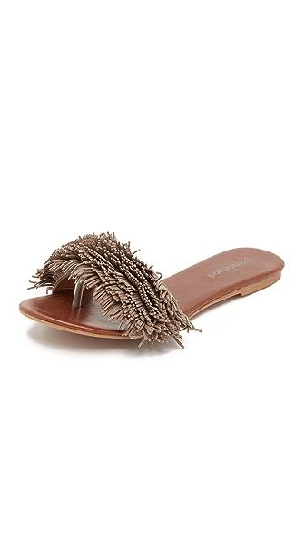 Jeffrey Campbell Koshi Suede Slide Sandals