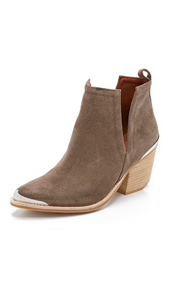Jeffrey Campbell Cromwell Suede Booties - Taupe