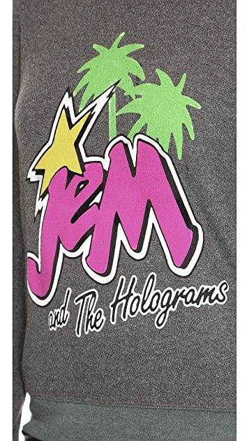Jem and the Holograms Wildfox Palm Trees Baggy Beach Sweatshirt