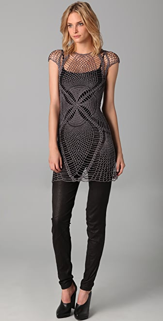 Jen Kao Lace Wing Cross Dress