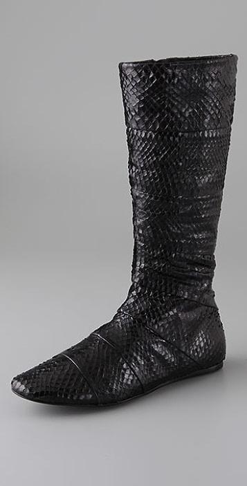 Jenni Kayne Flat Snakeskin Boots