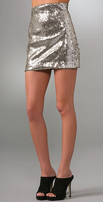 Jenni Kayne High Waisted Sequin Miniskirt