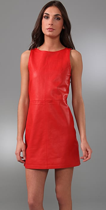 Jenni Kayne Leather Mini Shift Dress
