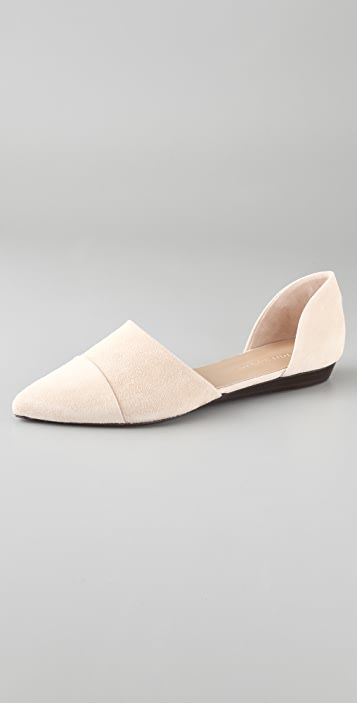 Jenni Kayne Suede D'Orsay Flats
