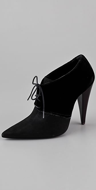 Jenni Kayne Lace Up High Heel Booties