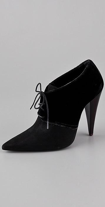 Jenni Kayne Lace Up High Heel Booties