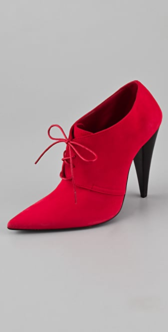 Jenni Kayne Nubuck Lace Up High Heel Booties