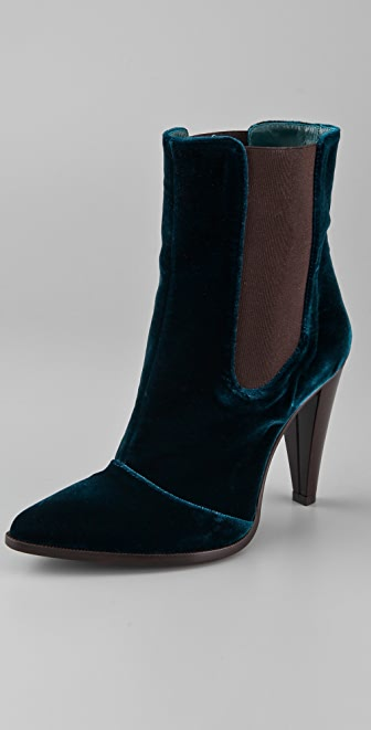 Jenni Kayne High Heel Velvet Booties