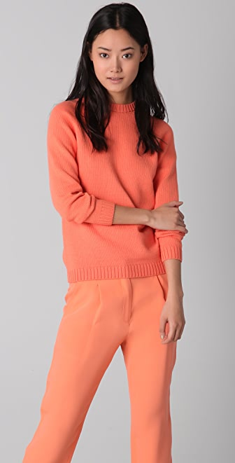 Jenni Kayne Crochet Back Crew Neck Sweater