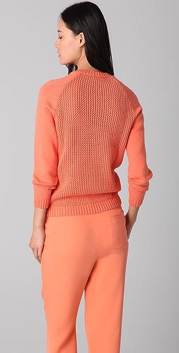 Jenni Kayne Crochet Back Crew Neck Sweater