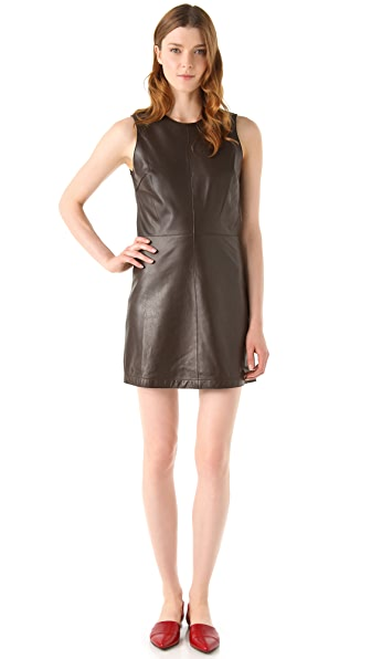 Jenni Kayne Cut Edge Leather Dress