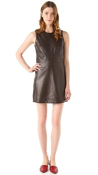 Jenni Kayne Cut Edge Leather Dress