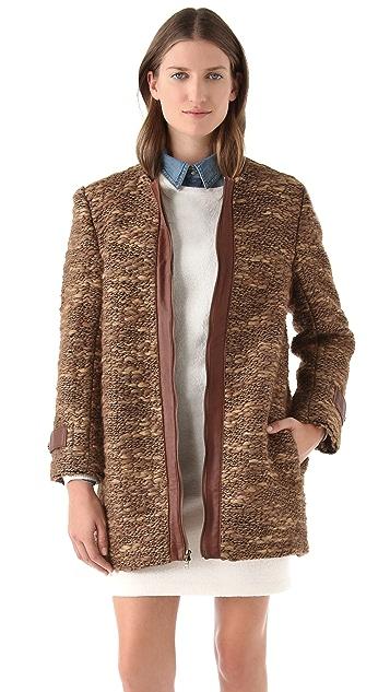 Jenni Kayne Leather Placket Coat