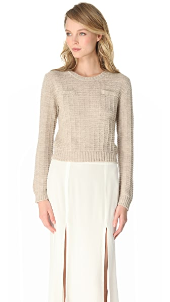 Jenni Kayne Cropped Crew Neck Sweater
