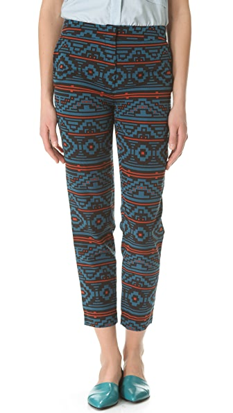Jenni Kayne Straight Printed Pants