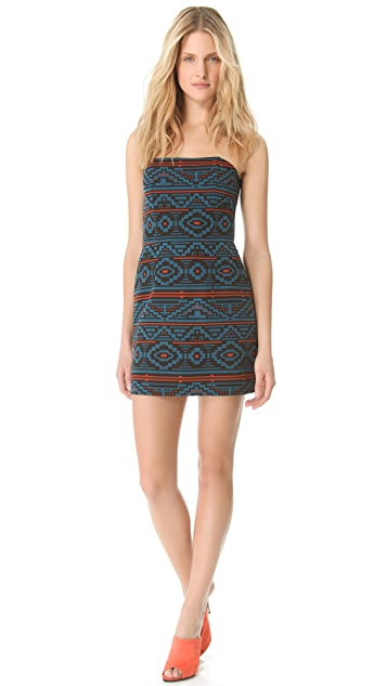 Jenni Kayne Strapless Print Dress