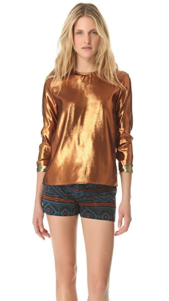 Jenni Kayne Long Sleeve Crew Neck Top