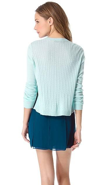 Jenni Kayne Cross Knit Crew Neck Sweater