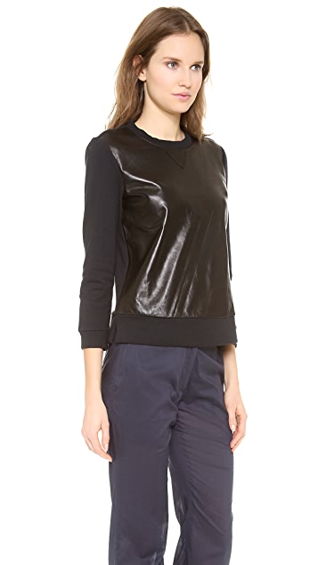 Jenni Kayne Leather Sweatshirt