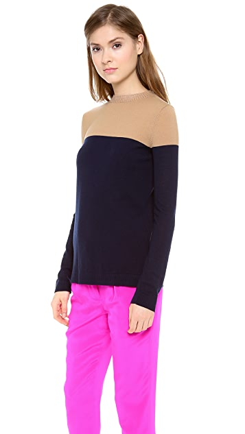 Jenni Kayne Side Slit Crew Neck Sweater