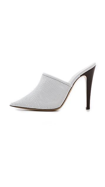Jenni Kayne Perforated Pointed Toe Mules