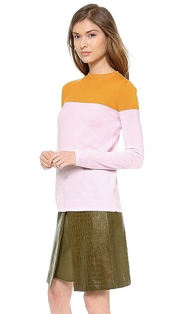 Jenni Kayne Sid Slit Crew Neck Sweater