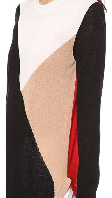 Jenni Kayne Colorbock Long Sleeve Sweater