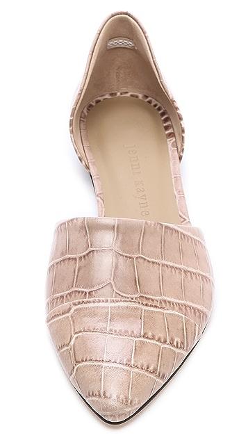 Jenni Kayne Croc Embossed d'Orsay Flats