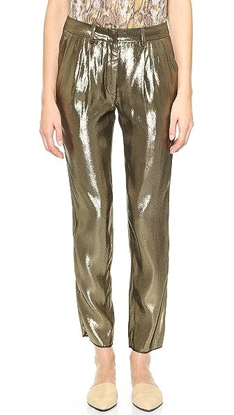 Jenni Kayne Pleated Metallic Pants