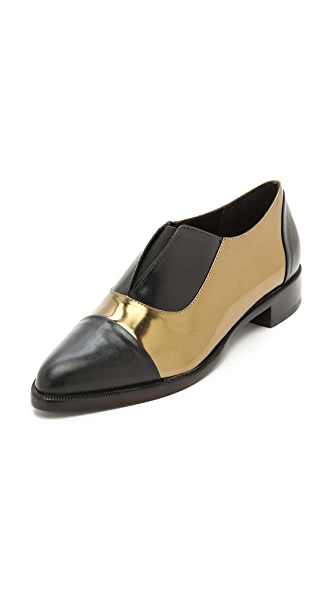 Jenni Kayne Metallic Leather Oxfords