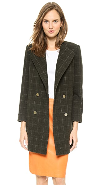 Jenni Kayne Double Breasted Plaid Coat