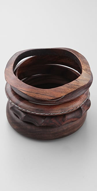 Jen's Pirate Booty Wooden Bangle Set