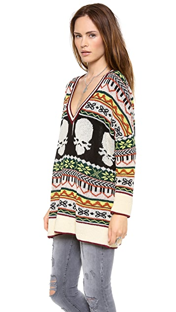 Jen's Pirate Booty Hobo Blues Sweater